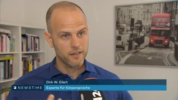 Körpersprache-Analyse - Sigmar Gabriel - Pro7, Newstime Dirk W Eilert