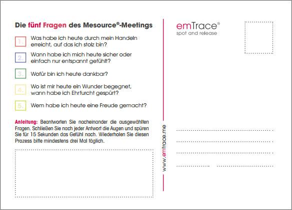 emTrace Postkarte Rückseite